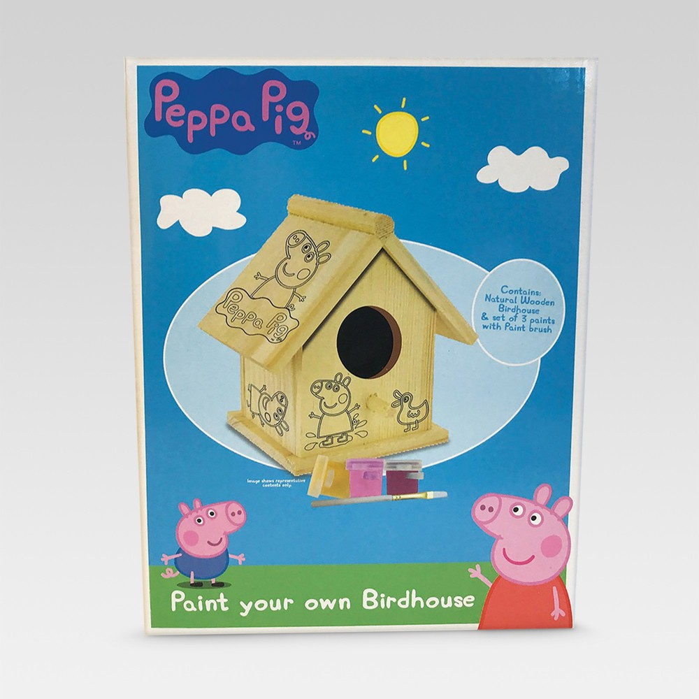 Peppa Pig Paint Your Own Birdhouse Kit - One Size - Peppa Pig, Multi-Colored