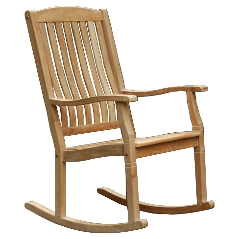 teak wood patio rocking chair cambridge casual - Patio Rocking Chairs