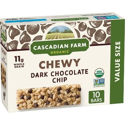 Cascadian Farms Organic Dark Chocolate Chip Chewy Granola Bars - 10ct