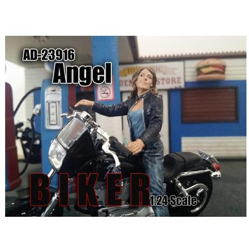 Biker Angel Figure For 1:24 Scale Models by American Diorama - image 1 of 1