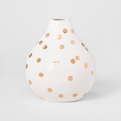 Vase   White And Gold Polka Dot   Opalhouse™ by Shop This Collection