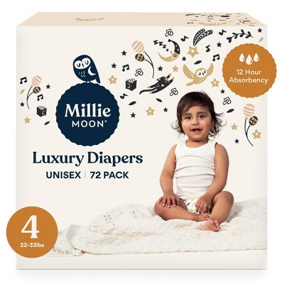 Millie Moon Luxury Diapers - (Select Size and Count)