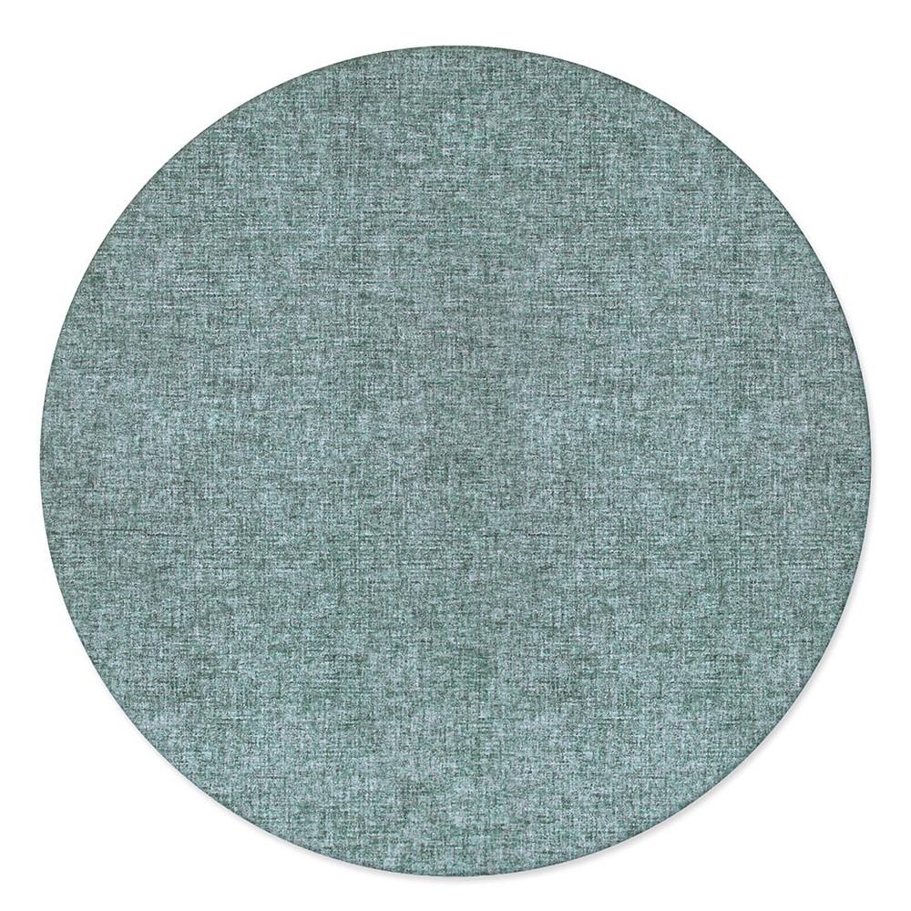 8' Solid Tufted Round Area Rug Green - Liora Manne