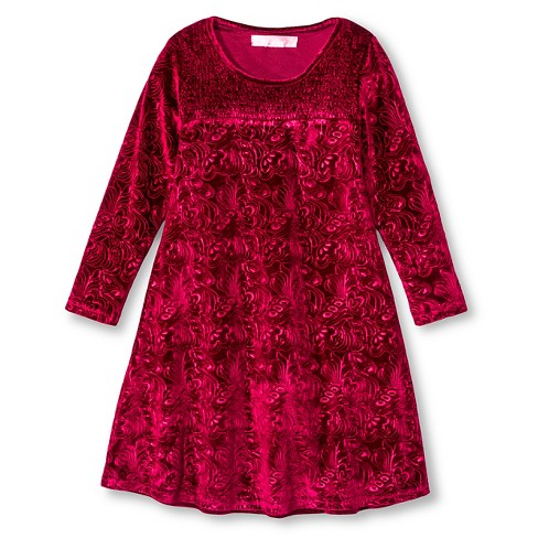 Say What? Girls' A-Line Dress - Red - image 1 of 2