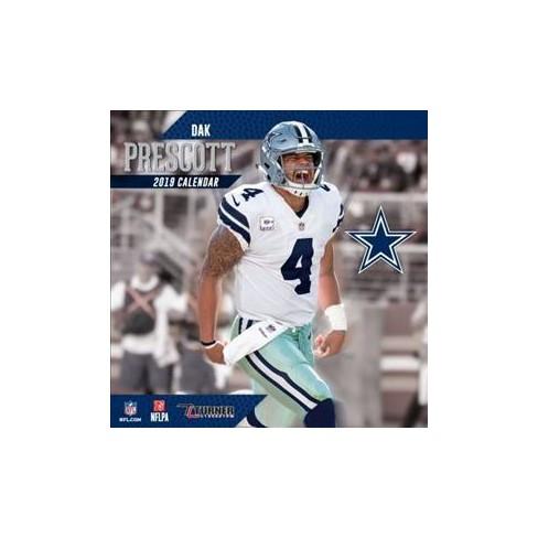 8267c74ca64 Dallas Cowboys Dak Prescott 2019 Calendar - (Paperback) : Target