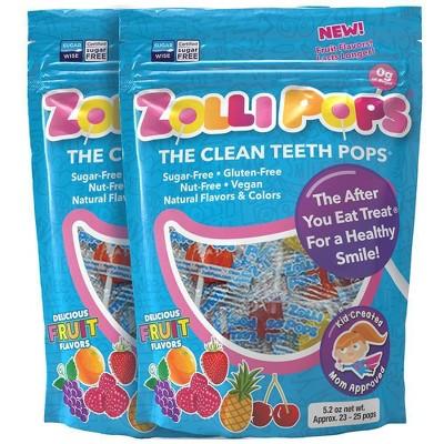 Zolli Pops Sugar Free Lollipops Candy Double - 5.2oz