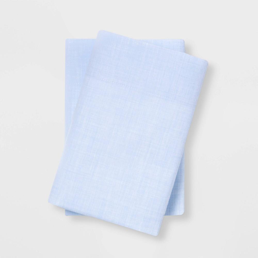 Standard Easy Care Solid Pillowcase Set Light Blue Room Essentials 8482