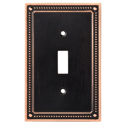 Franklin Brass Classic Beaded Single Switch Wall Plate Bronze