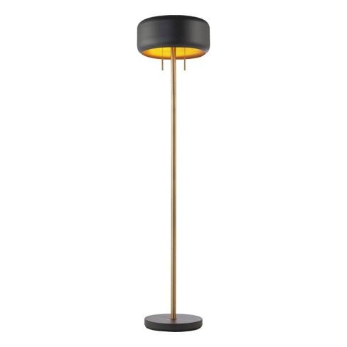 2 Light Metallic Dark Gray Floor Lamp - Novogratz x Globe - image 1 of 4