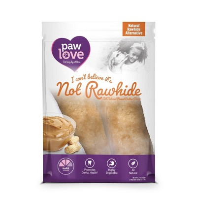 Paw Love I Can't Believe It's Not Peanut Butter Rawhide Dog Treats - 2ct