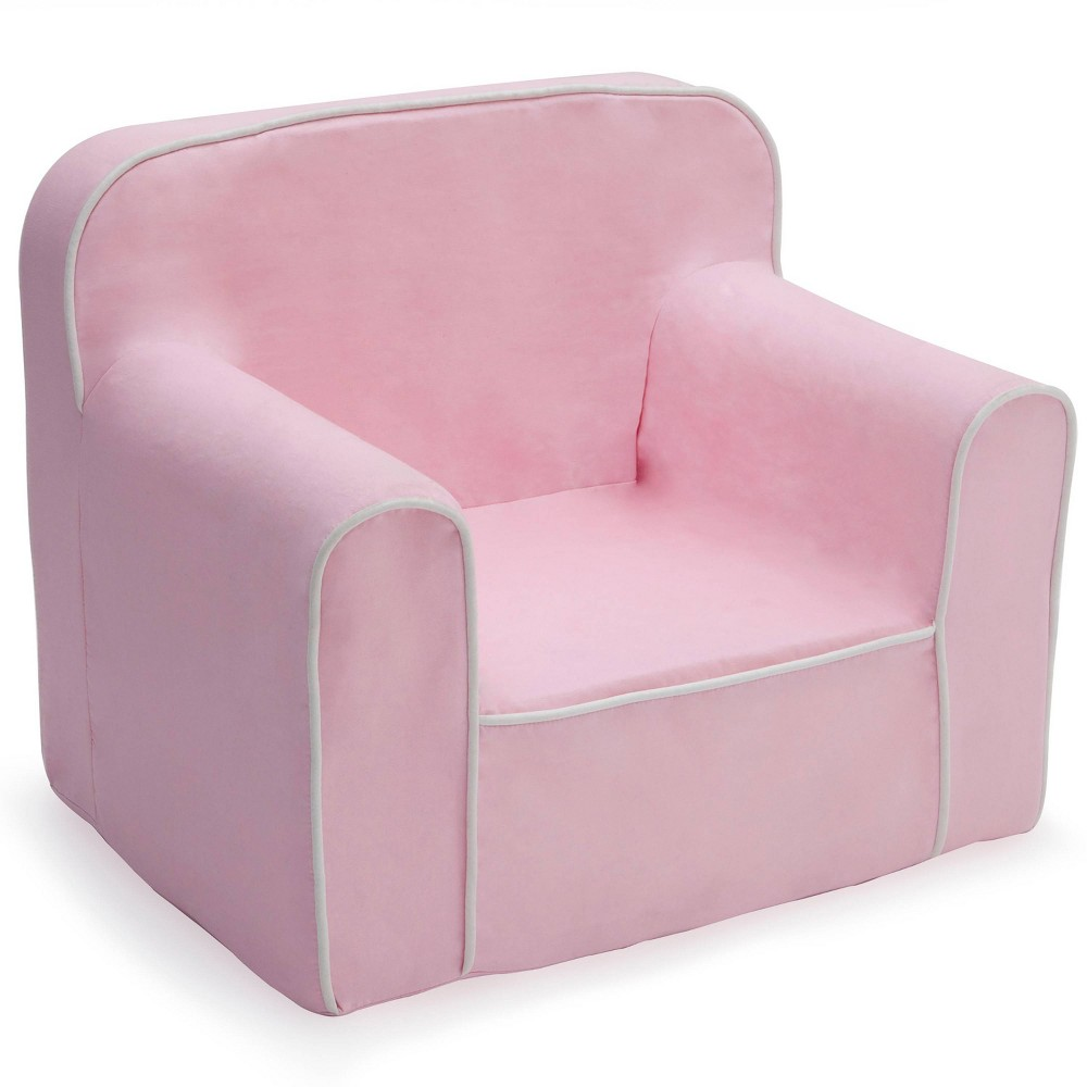 Image of Foam Snuggle Chair Pink/White - Delta Children