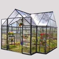 12'x10' Chalet Greenhouse Black - Palram