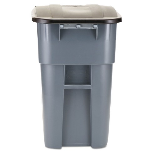 Rubbermaid Commercial Brute Rollout Container Square Plastic 50gal Gray 9W27GY - image 1 of 4
