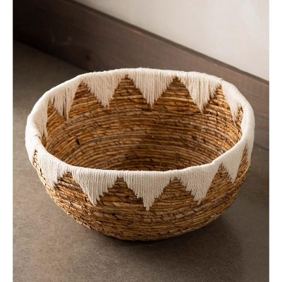 VivaTerra Banana Bark Woven Floor Basket