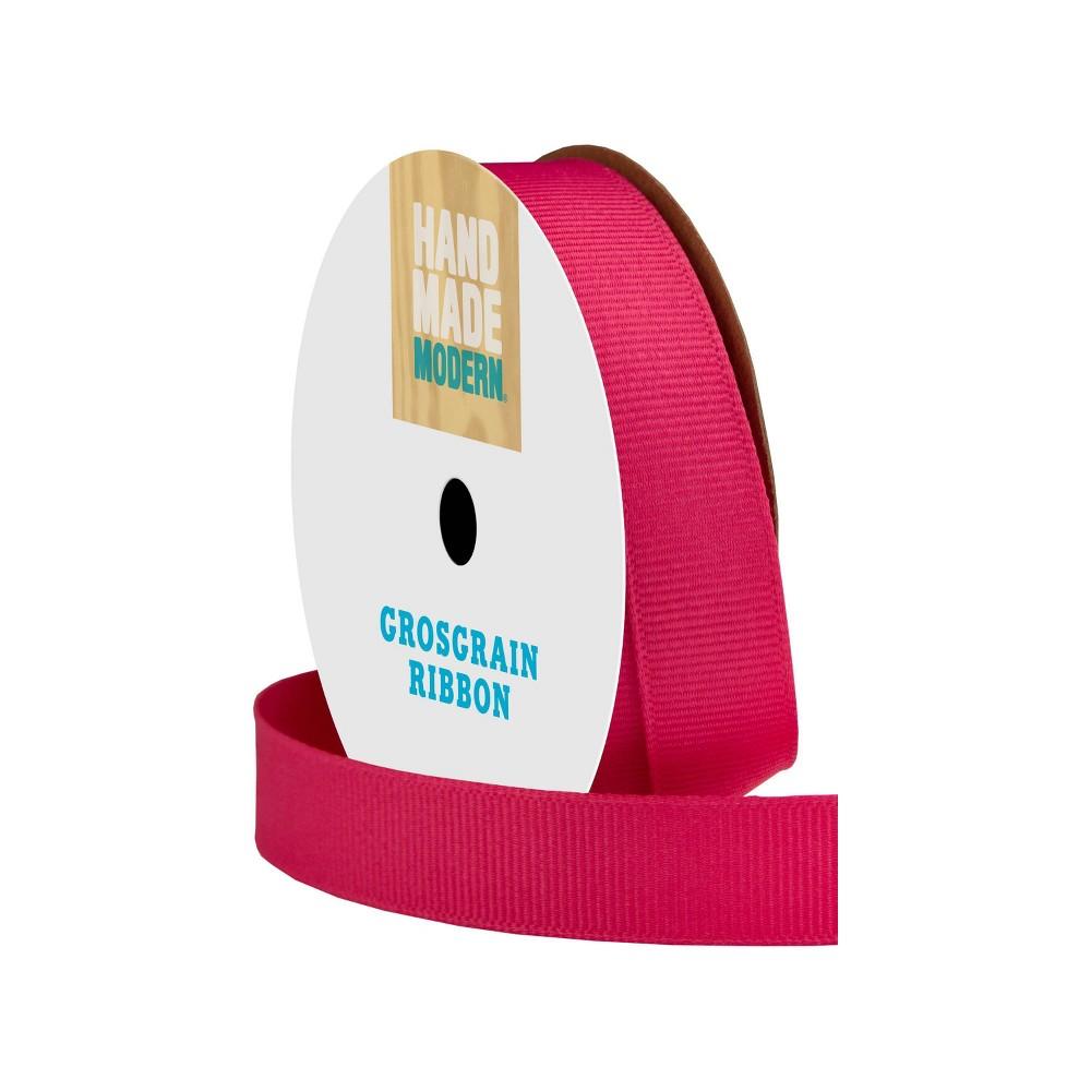 "Image of ""Grosgrain Ribbon 5/8"""" x 21ft Shocking Pink - Hand Made Modern"""