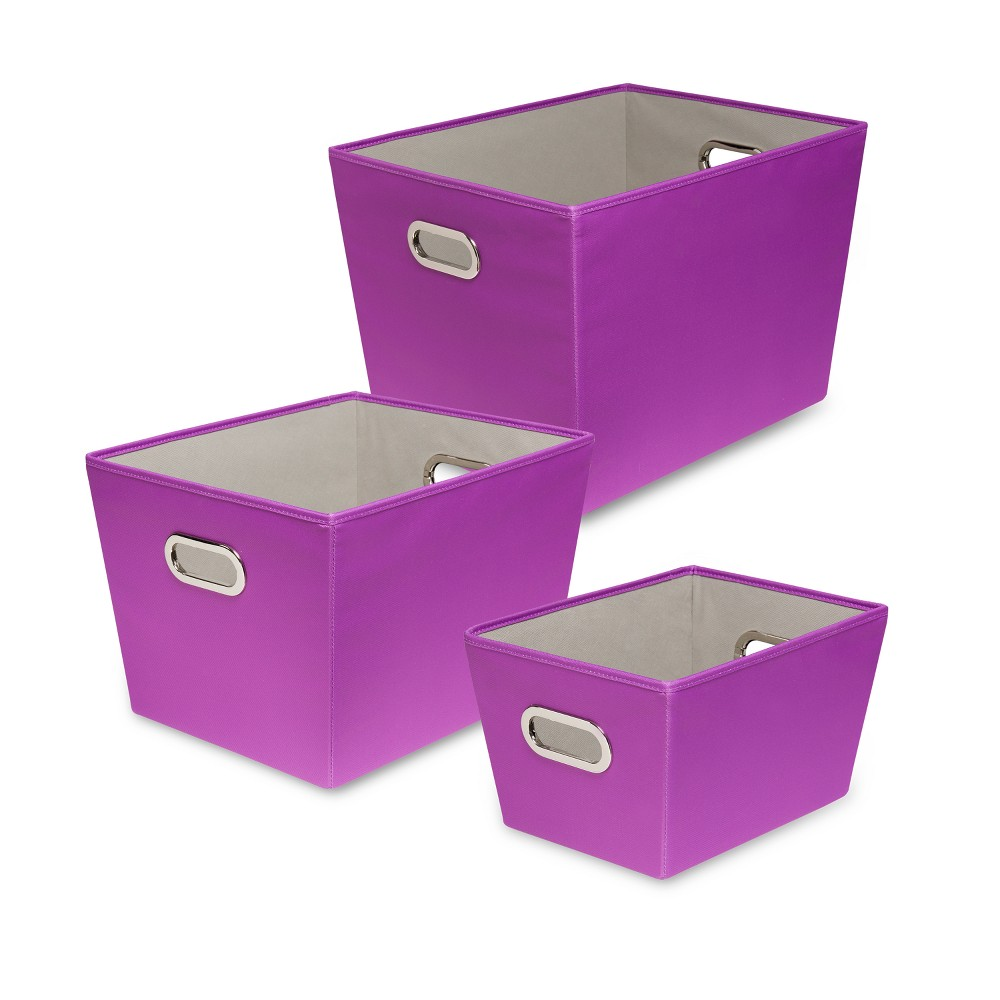Honey-Can-Do Decorative Organizing Totes Purple