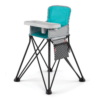 Summer Infant Pop 'n Dine SE High Chair (Sweet Life Edition)- Aqua Sugar
