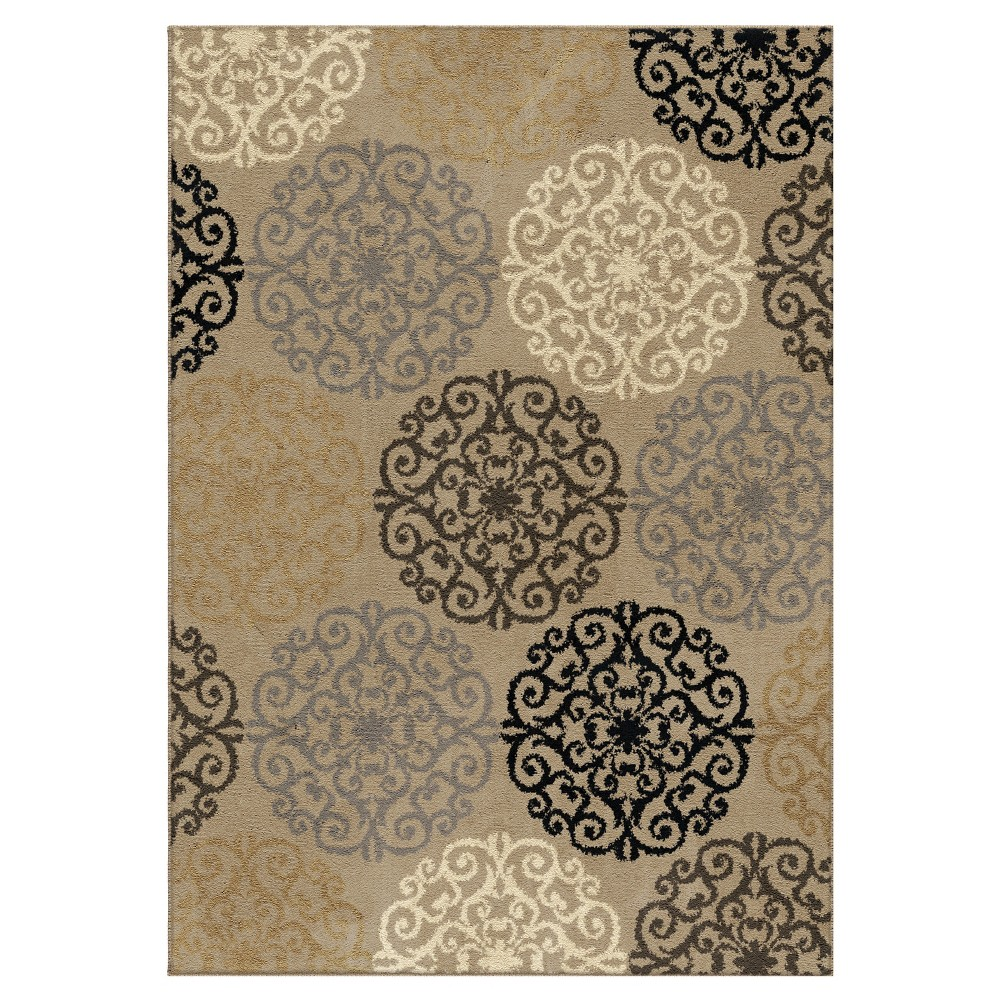 "Image of ""Adobe Abstract Woven Area Rug - (5'3""""X7'6"""") - Orian"""