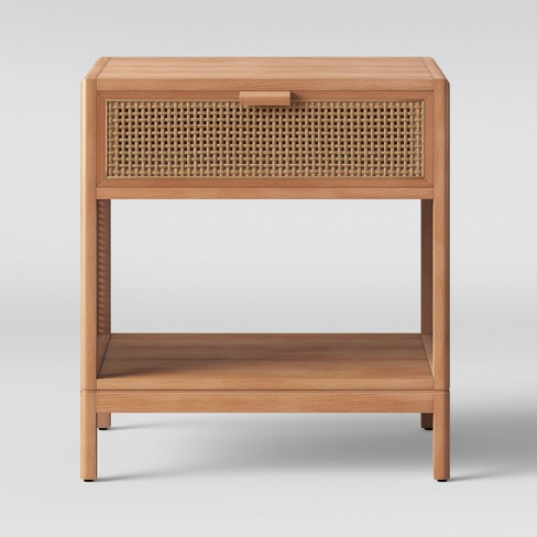 Minsmere Caned Accent Table with Drawer - Opalhouse™ - image 1 of 4