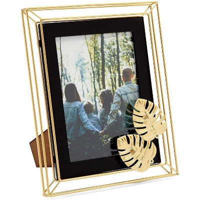 Farmlyn Creek Gold Metal Picture Frame Photo Frame for 5x7 Inch Photos (7.9 x 10 in)