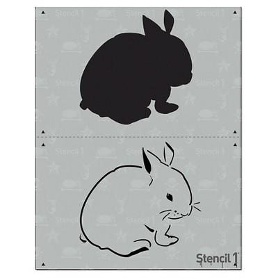 "Stencil1 Bunny - Layered Stencil 8.5"" x 11"""