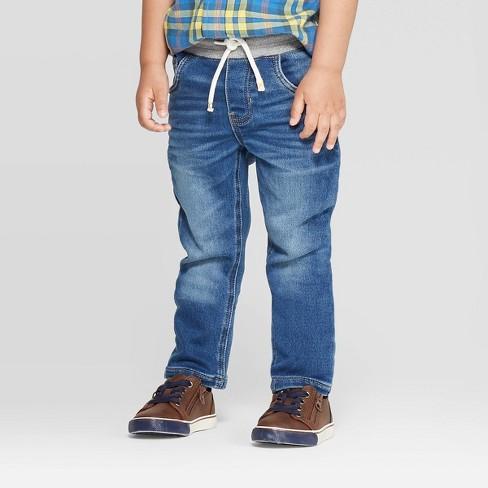 Toddler Boys' Straight Pull-On Skinny Jeans - Cat & Jack™ Medium Wash - image 1 of 3