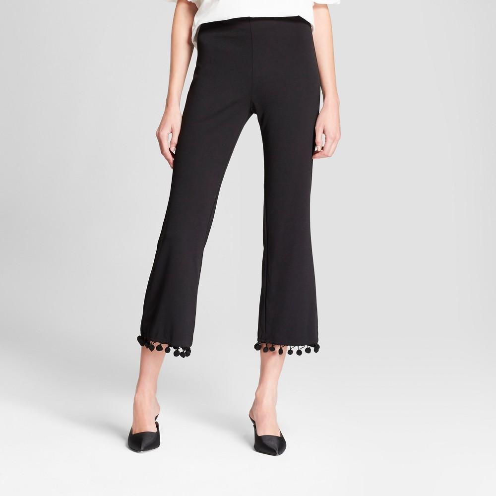 Women's Straight Leg Tassel Cropped Pants - Necessary Objects Black M