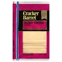 Cracker Barrel Aged Swiss Cheese Slices - 10ct
