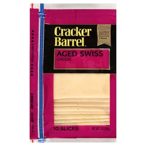 Cracker Barrel Aged Swiss Cheese Slices - 10ct - image 1 of 1