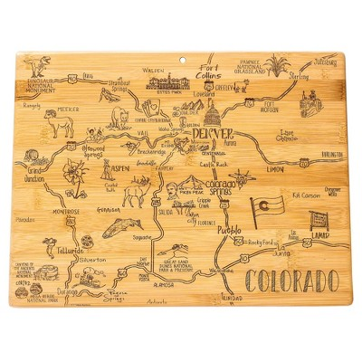 Totally Bamboo Destination Colorado Serving and Cutting Board