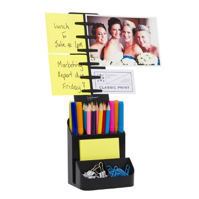 Desktop Organizer and Caddy Black - Note Tower