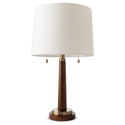 Franklin Wood Assembled Table Lamp Brass (Lamp Only)- Threshold™
