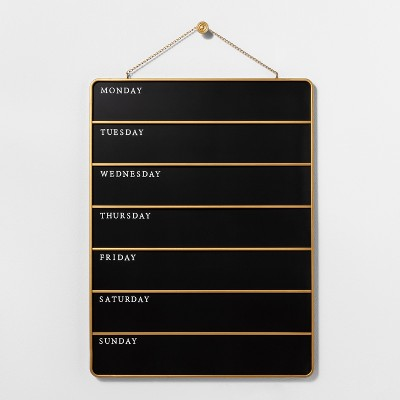 Presentation Chalk Board - Days of the Week - Small - Black - Hearth & Hand™ with Magnolia