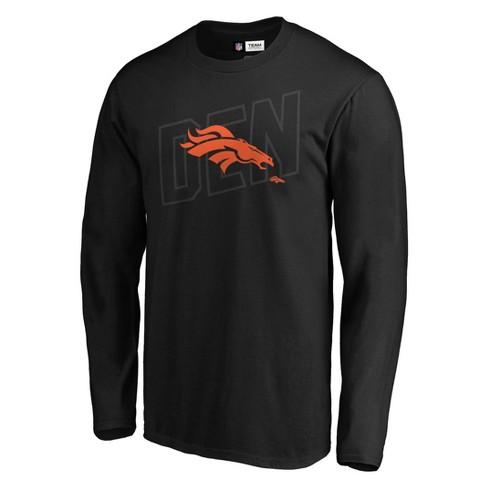 NFL Denver Broncos Men's Tridcode Metallic Logo Long Sleeve T-Shirt - Black - image 1 of 3