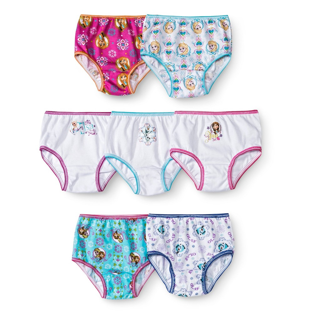 DisneyToddler Girls' 7 Pack Frozen Panty 4T, Multicolored