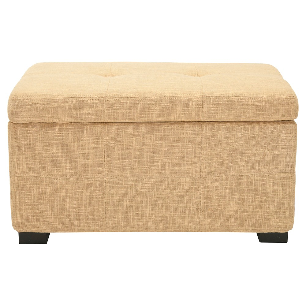 Maiden Tufted Storage Bench Small Gold - Safavieh