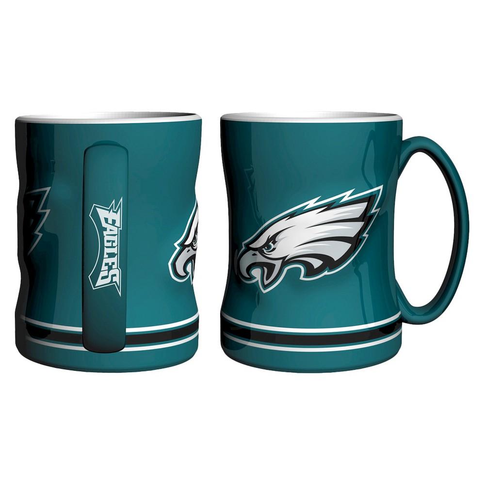 NFL Boelter Brands 2 Pack Relief Mug 15 oz - Philadelphia Eagles