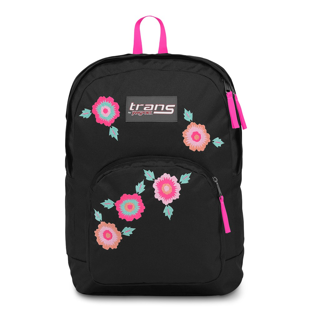 Trans by Jansport 17.5 Overt Backpack - Rosa Floral, Hearts
