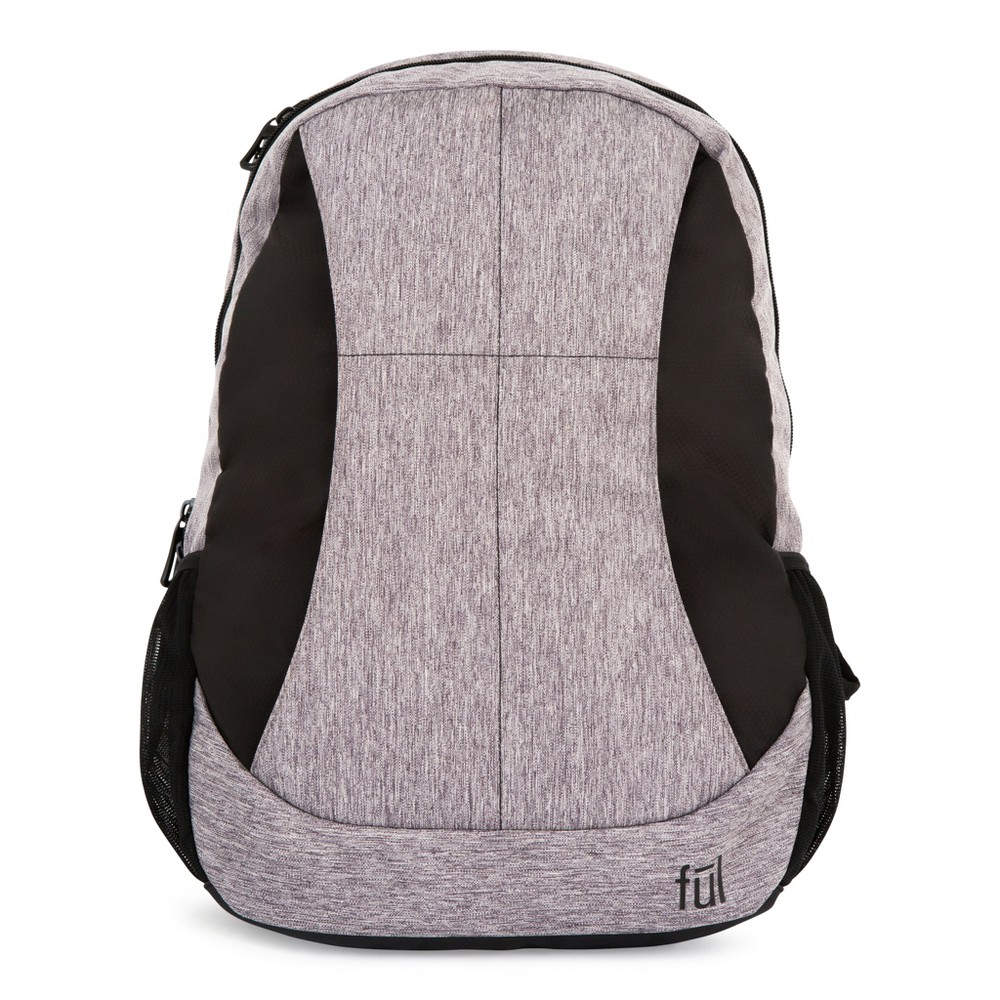 "Image of ""FUL 19"""" RFID Westly Backpack - Heather Grey/Black, Gray"""