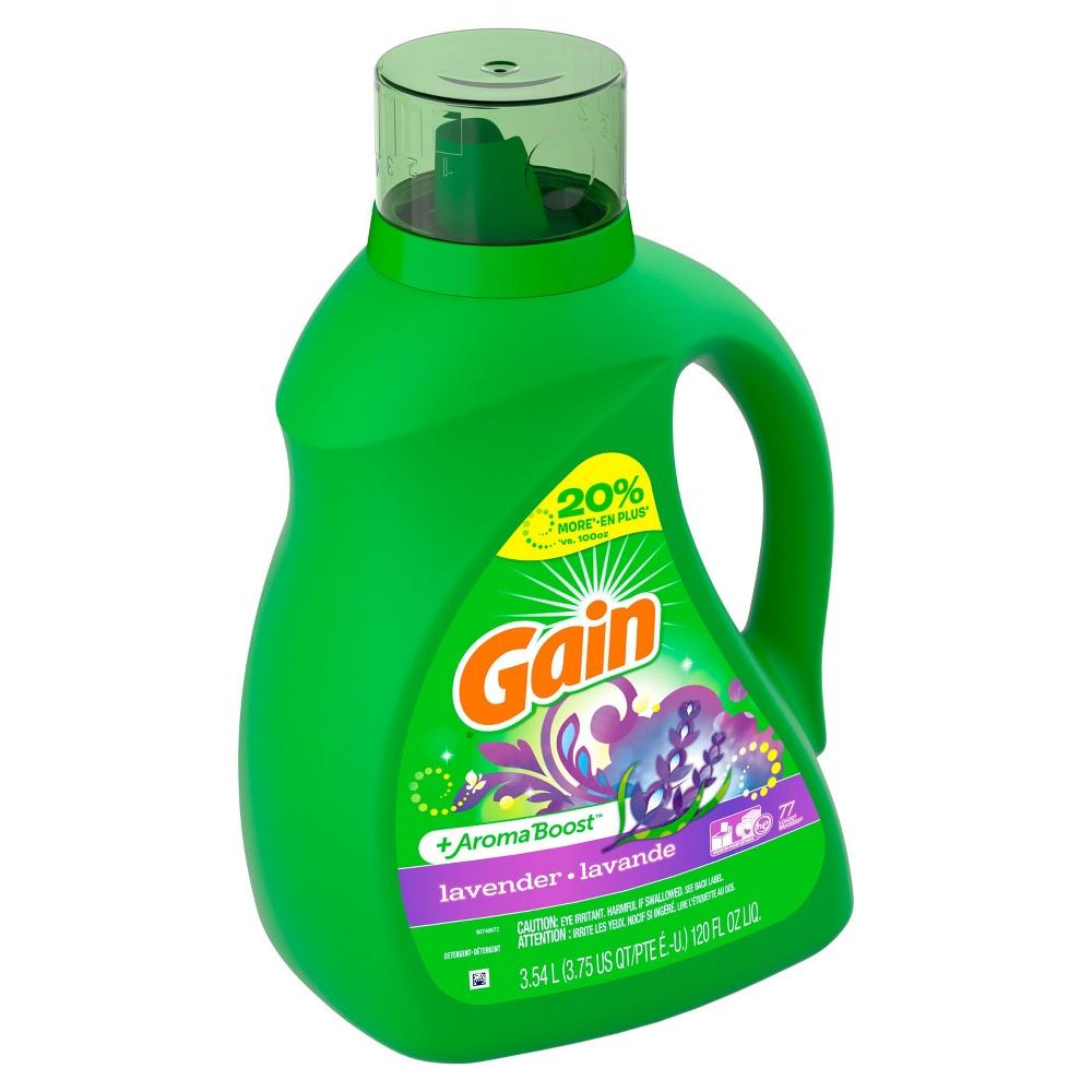 Gain Lavender + Aroma Boost Liquid Laundry Detergent - 120 fl oz