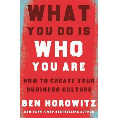 What You Do Is Who You Are - by  Ben Horowitz (Hardcover)