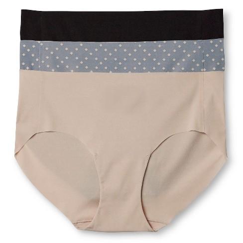 1d53b523817e3 Hanes Premium Women s No Lines Microfiber Hipster Underwear 3-Pack ...