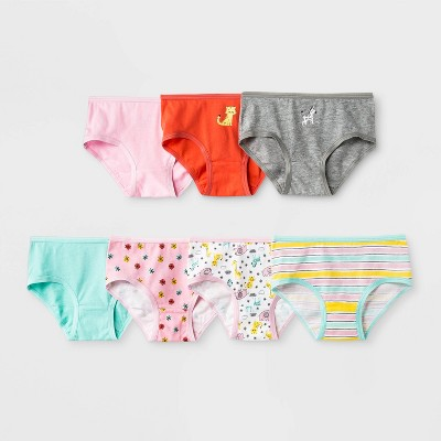 Toddler Girls' 7pk Animals Print Briefs - Cat & Jack™ Pink
