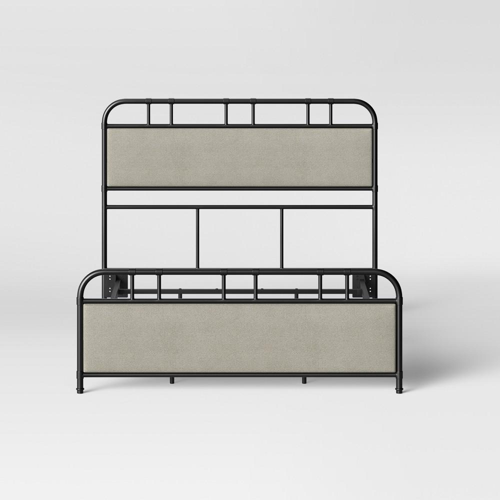 Bridgton Metal Upholstery Full/Queen Bed Black - Threshold