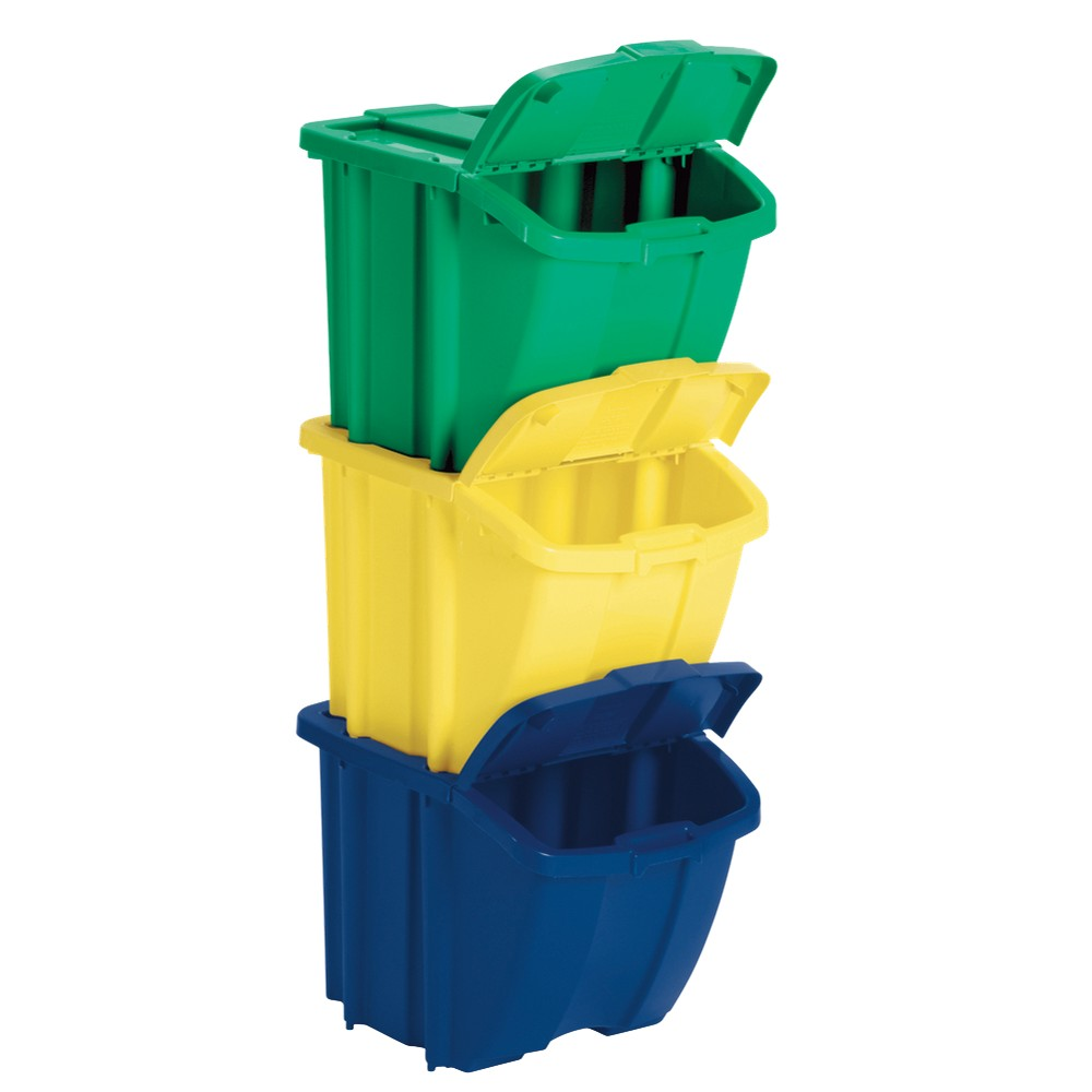 Image of Suncast Recycle Bin Set of 3