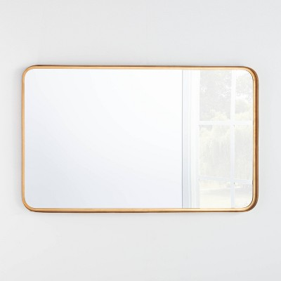 "24"" x 36"" Rectangular Decorative Mirror with Rounded Corners - Threshold™ designed with Studio McGee"