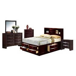 Madison Storage 5pc Bedroom Set - Mahogany - Picket House Furnishings