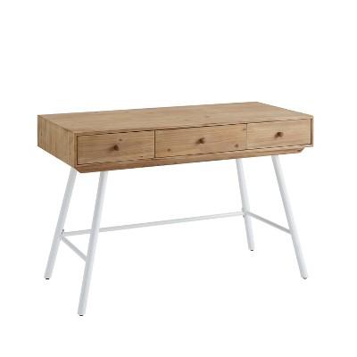Cailan 3 Drawer Desk - Linon