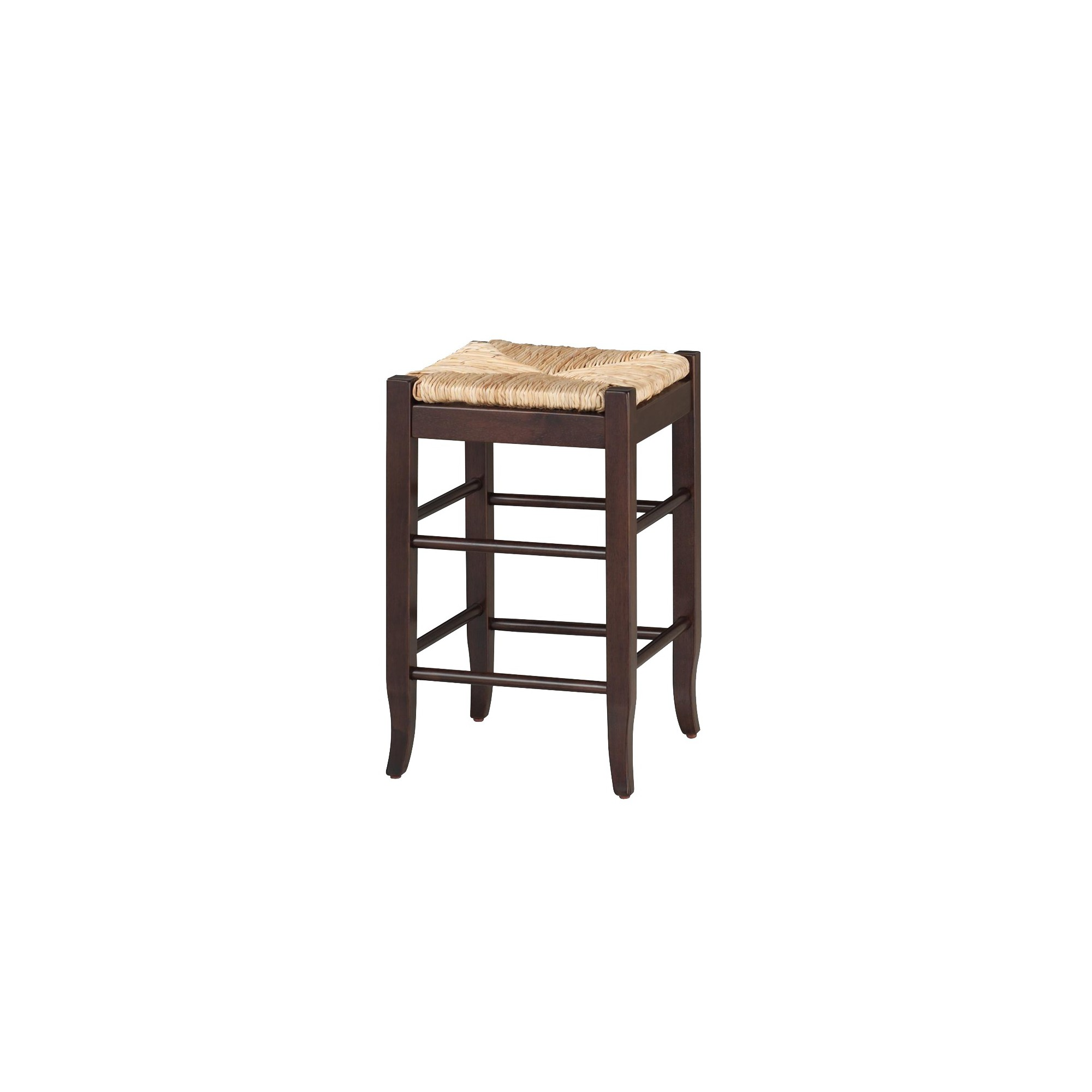 'Boraam Industries Rush Seat 24'' Counter Stool - Cappuccino, Size: 24'' Counterstool, Orange'