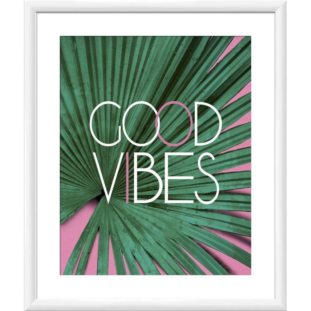 "Image of ""18"""" x 22"""" Good Vibes Palm Wall Art - PTM Images"""